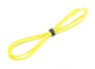 Turnigy Hoge kwaliteit 24AWG Silicone Wire 1m (Geel)