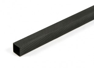 Fibre Plein Carbon Tube 20 x 20 x 800mm