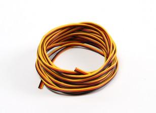 22AWG Servo Draad 5mtr (Rood / zwart / geel)
