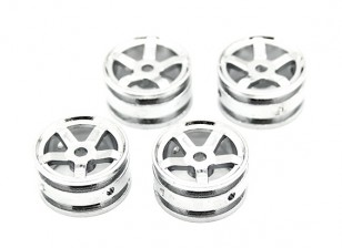 5 Spokes Rim (4 stuks) - OH35P01 1/35 Rock Crawler Kit