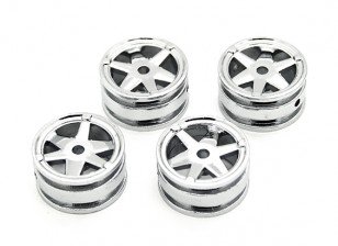 6 Spokes Rim (4 stuks) - OH35P01 1/35 Rock Crawler Kit