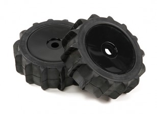 1/8 Scale Black Pro Dish Wheels Met Paddle Style Tyres (2pc)