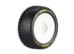 LOUISE T-PIRATE 1/8 Scale Truggy Banden Super Soft Compound / 0 Offset / White Rim / Mounted