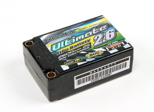 Turnigy nano-tech Ultimate 2600mAh 2S2P 90C Hardcase Lipo Super Shorty Pack (ROAR en BRCA Goedgekeurd)