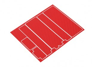 TrackStar Decorative Batterij Cover Panels voor Standard 2S Hardcase Red Carbon Pattern (1 Pc)