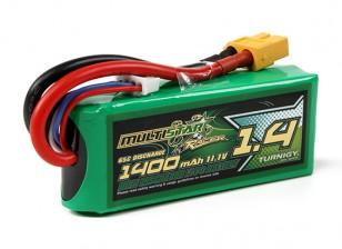 MultiStar Racer-serie 1400mAh 3S 65C Pack Lipo Voor FPV Minis (Gold Spec)
