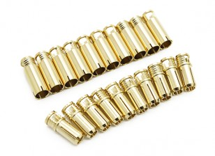 6mm Supra X Gold Bullet Connectors (10 paar)