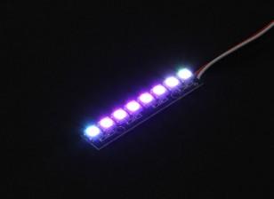 8 RGB LED 7 Color Board (langwerpige) 5V en Intelligent RGB LED controller met Futaba stijl stekkers