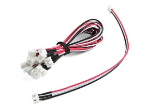 JST-XH 2S Wire Uitbreiding 20cm (10st / bag)