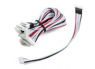JST-XH 6S Wire Uitbreiding 20cm (10st / bag)