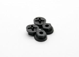 Wheel Hex (4 stuks) - Basher Rocksta 1/24 4WS Mini Rock Crawler