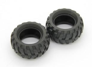 Banden (2 stuks) - Basher Rocksta 1/24 4WS Mini Rock Crawler