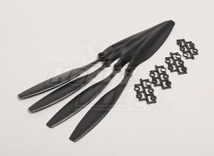 GWS Style Slowfly Propeller 12x4.5 Black (CCW) (4 stuks)