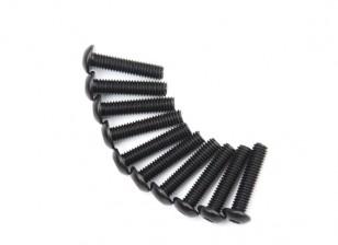 Metal Round Head Machine Hex Screw M4x18-10pcs / set