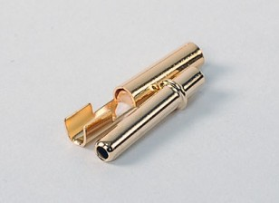 HXT 2.3mm Gold Connectors w / krimp (10pair / 20pc)