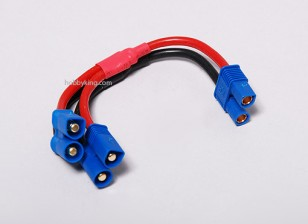 EC3 Battery Harness 14AWG voor 2 Packs in Parallel