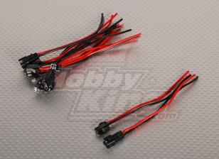 2 pins connector Man / Vrouw 12cm per stuk. (5pairs / bag)