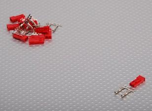 JST Vrouw 2-pin aansluiting Set (10st / set)