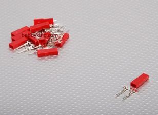 JST Man 2-pin aansluiting Set (10st / set)