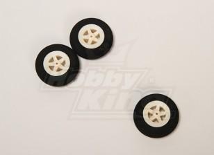 Super Light 5 Spoke Wheel D35xH10 (3pcs / bag)