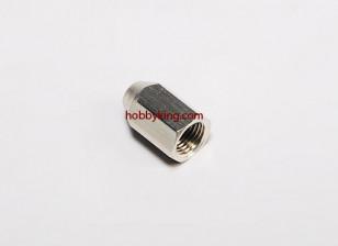 Brass Nut voor spinners M10x1-M4 (1 st)
