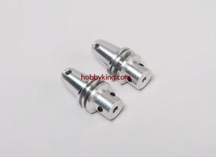 Prop adapter w / Alu Cone 1 / 4x28-3.2mm as (Grub Screw Type)