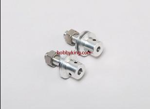 Prop adapter w / Steel Nut 5 / 16x24-M5mm as (Grub Screw Type)