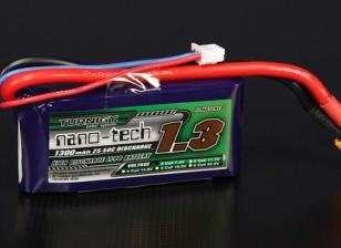 Turnigy nano-tech 1300mAh 2S 25 Pack Lipo ~ 50C