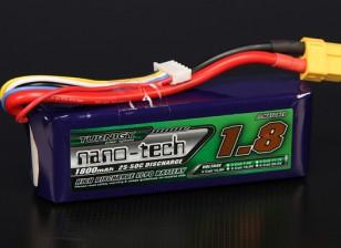 Turnigy nano-tech 1800mAh 4S 25 Pack Lipo ~ 50C