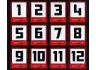 Trackstar Racing Number Vinyl Decals (10 Sheets)