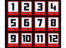 Trackstar Racing Number Vinyl Decals - Small Club Pack (20 Sheets)