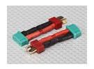 T-Connector naar MPX Connector Battery Adapter Lead (2 stuks)