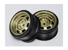 01:10 Schaal Wheel Set (2 stuks) Gold Classic Style RC Car 26mm (geen offset)
