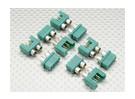 MPX Connector met zilverkleurige ring, Mannelijke en Vrouwelijke (5pairs)