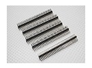 90 graden Pin Header 2 Row 30Pin 2.54mm Pitch (5PCS)