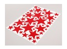Star Red verschillende maten Decal Sheet 425mmx300mm