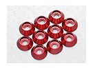 Sockethead Washer geanodiseerd aluminium M3 (Rood) (10st)