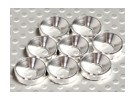 Verzonken Washer geanodiseerd aluminium M5 (zilver) (8 stuks)