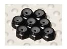 Zwart geanodiseerd aluminium M2 Nylock Nuts (8 stuks)
