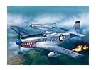 Italeri schaal 1/72 P-51D Mustang plastic model kit