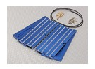 Blue Aluminum Battery Water Cooling Board (2 stuks)