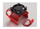 Motor Heat Sink w / Fan Red Aluminium (45mm)