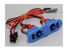 Heavy Duty RX Twin-switch met Charge Port & Fuel Dot Blue