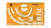 Fleischmann N Gauge Piccolo Track 1/5 Track Stencil