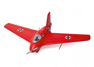 Durafly™ Me-163 Komet 950mm High Performance Rocket Fighter (PNF) (Red Edition) - top