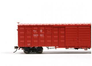 P64K Box Car (Ho Scale - 4 Pack) Brown Set 2
