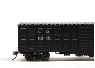 P64K Box Car (Ho Scale - 4 Pack) Black Set 2 / 2
