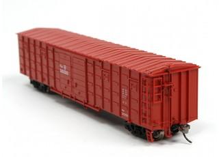 P64K Box Car (Ho Scale - 4 Pack) (Brown Set 4) rear