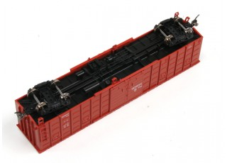 P64K Box Car (Ho Scale - 4 Pack) (Brown Set 4) rolling stock