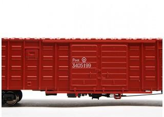 P64K Box Car (Ho Scale - 4 Pack) (Brown Set 4) 1